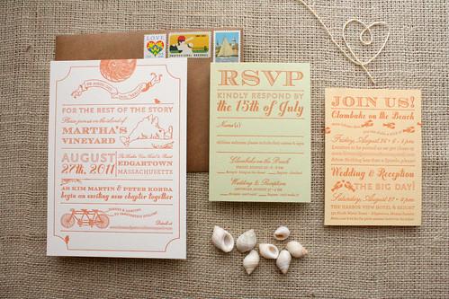 Martha's Vineyard Wedding Invitation   by Sarah Parrott