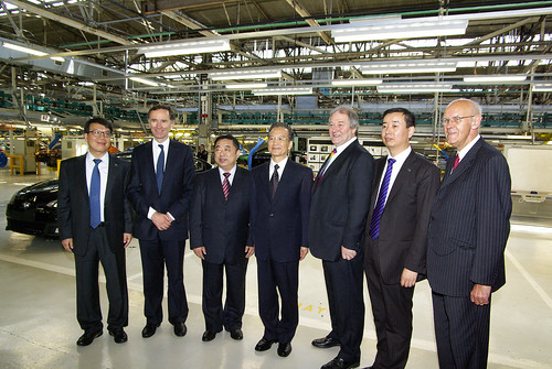 Lord Green with Premier Wen at Longbridge MG plant in Birmingham | by UKTI [closed account]