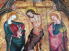 Christ flanked by the Blessed Virgin and St John