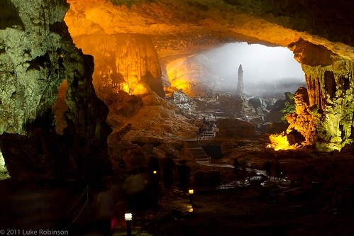 "Interior of Sung Sot ""Surprise"" Cave, Bo Hòn Island, Ha Long Bay"