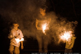 mother & sons with sparklers - MG 4889.JPG | by sean dreilinger