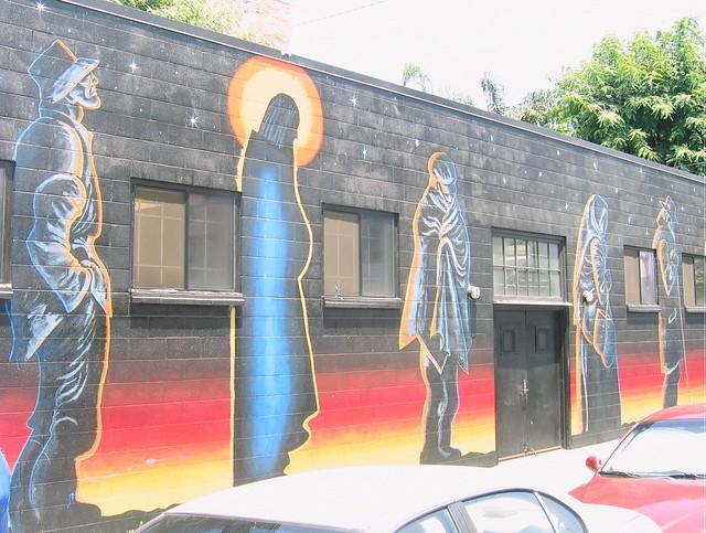 Outside mural .