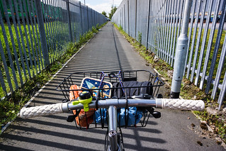 Grim industrial cycle route near Warrington | by tomsbiketrip.com