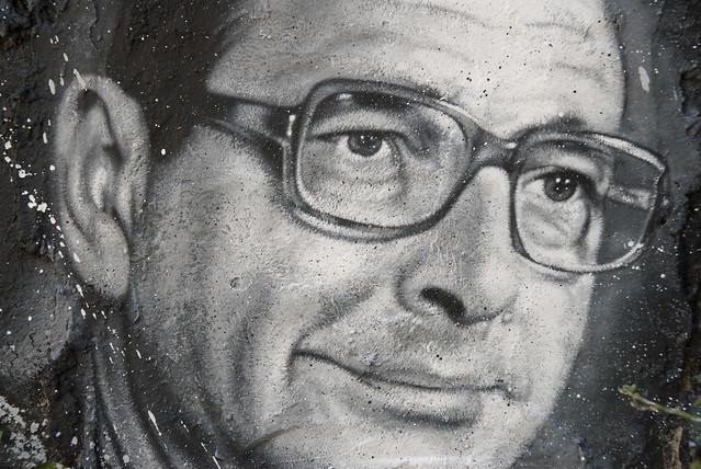 Jacques Chirac, painted portrait _DDC0060