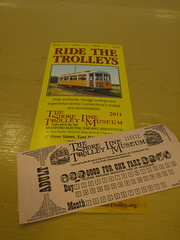日, 2011-06-26 11:49 - The Shore Line Trolley Museumの切符