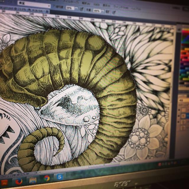 Start coloring #illust #instart #instacool #instadraw #instagood #illustration #illustrator #drawings #doodle #design #art #artist #artistic #artistlife #photoshop #colorful #creative #color