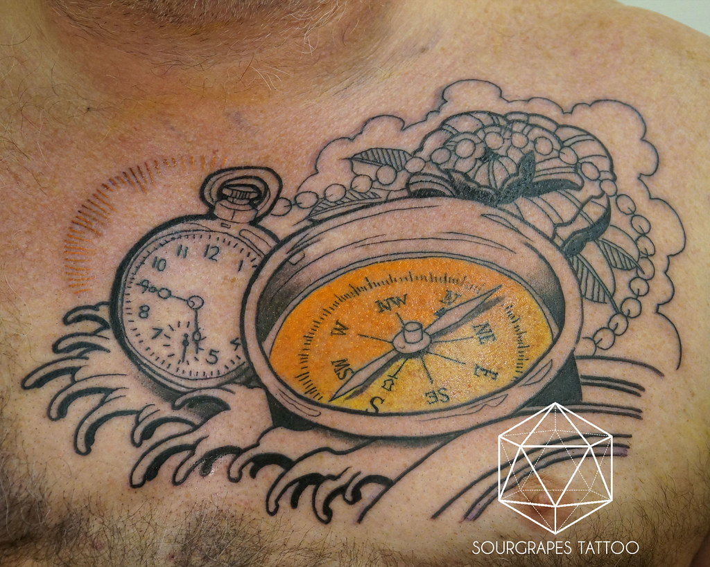 Nautical Neo Traditional Compass Tattoo Sourgrapes Tattoo Flickr