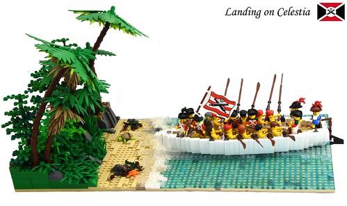 Landing on Celestia