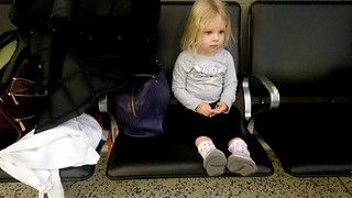 2016 - Europe - Travel - Way There - Millie on Airport Chair II | by SeeJulesTravel