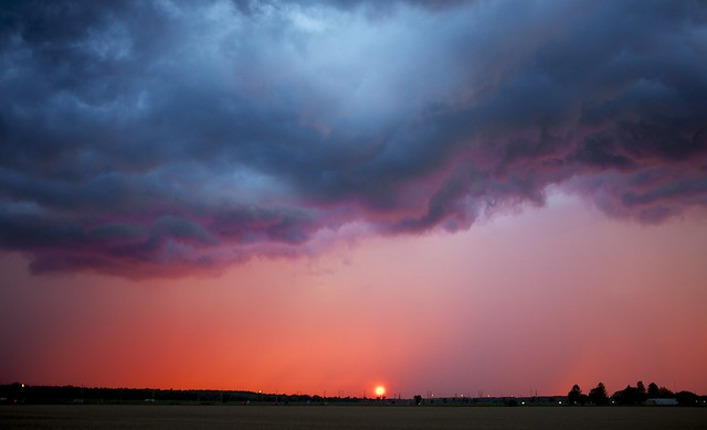 Drama at sunset - minutes before the storm