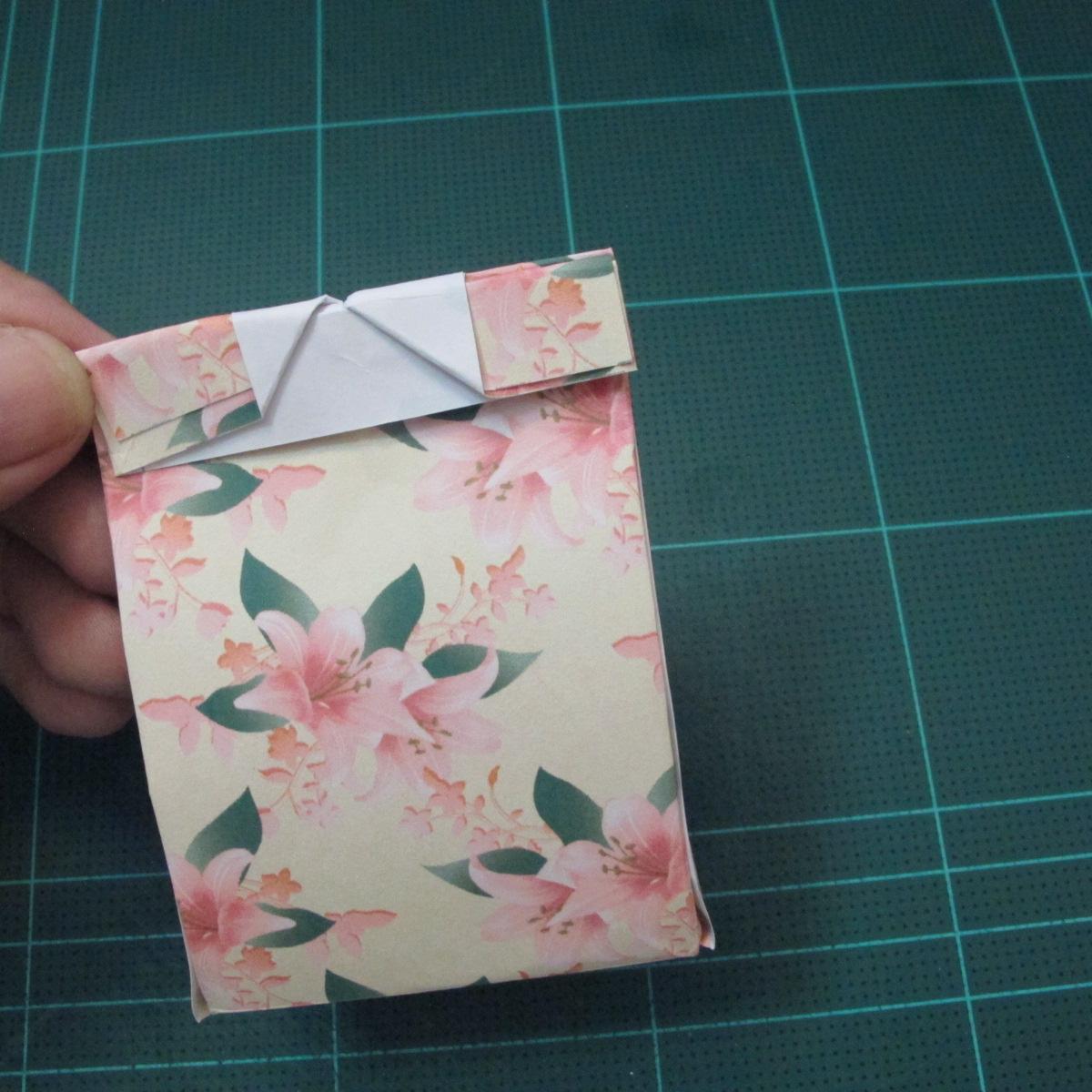 การพับกระดาษเป้นถุงของขวัญแบบไม่ใช้กาว (Origami Gift Bag) 015