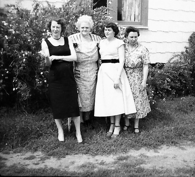 Ladies, early 1950s, possibly in Canada