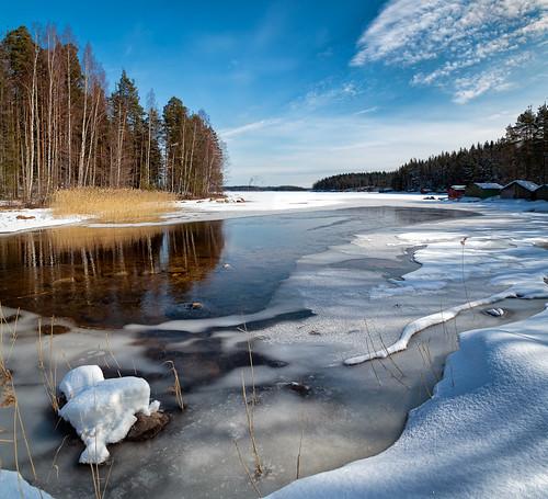 winter ice landscape saimaa imatra