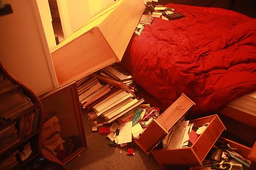 Another ChCh Quake bookshelf...