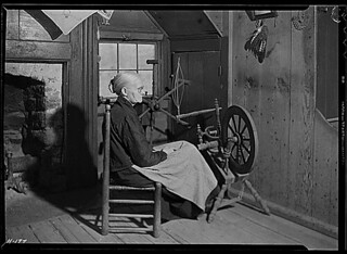 """""""Mrs. Jacob Stooksbury in her home at Loyston, Tennessee."""", 11/23/1933"""