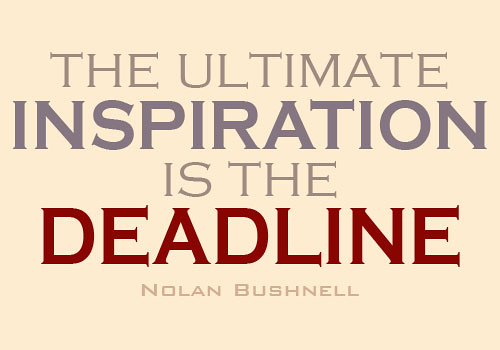 The ultimate inspiration is the deadline. | by angelamaphone