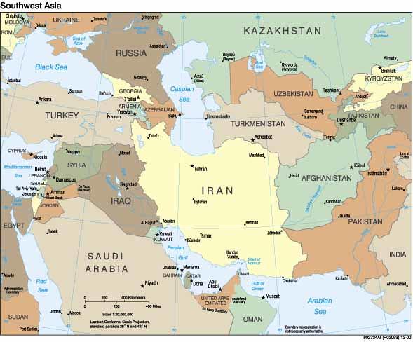 Southwest Asia Map | Southwest Asia Map | meyghaninet | Flickr