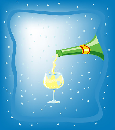 champagne illustration | by lifelikeapps