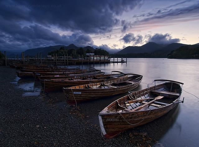 Derwentwater Boats at Dusk