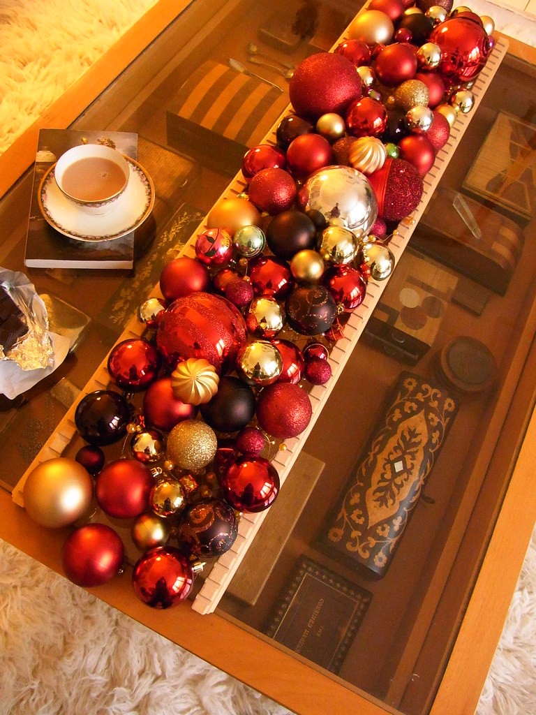 Coffee Table With Tea With Christmas Decoration Well Flickr