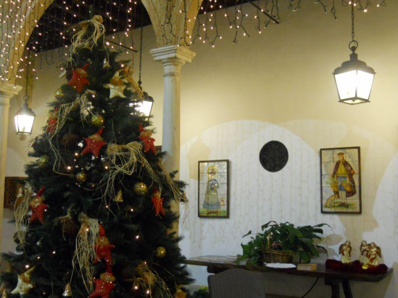 Decoración Navidad en Parador de Úbeda