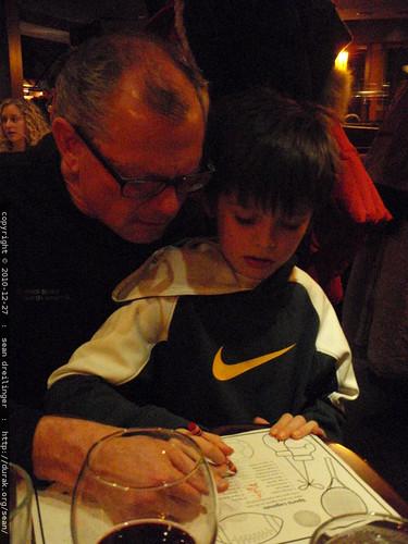 grandpa jeff helps nick complete a sports quiz - PC270014.JPG | by sean dreilinger