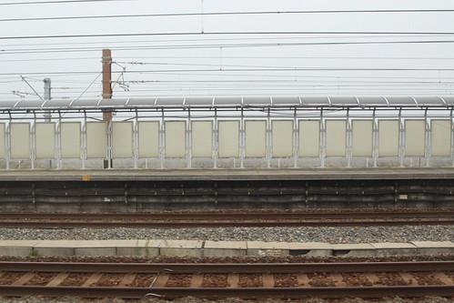 Emergency platforms near Siu Ho Wan depot