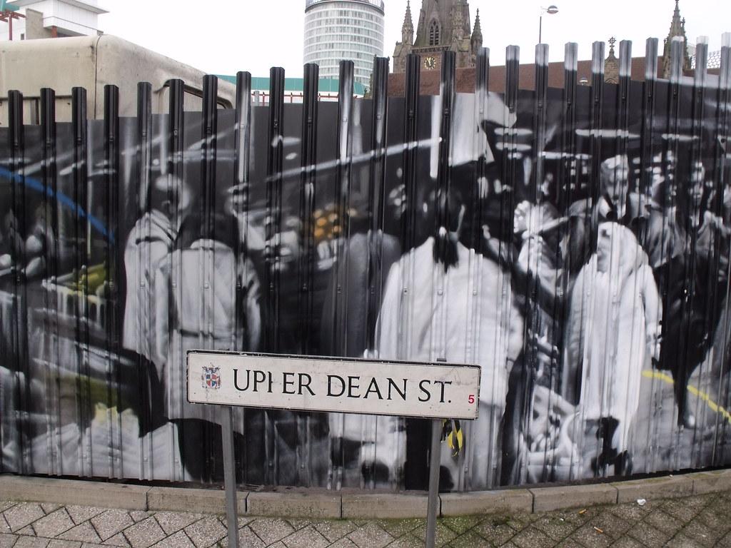Bull ring markets graffiti 4 hire upper dean street road sign by