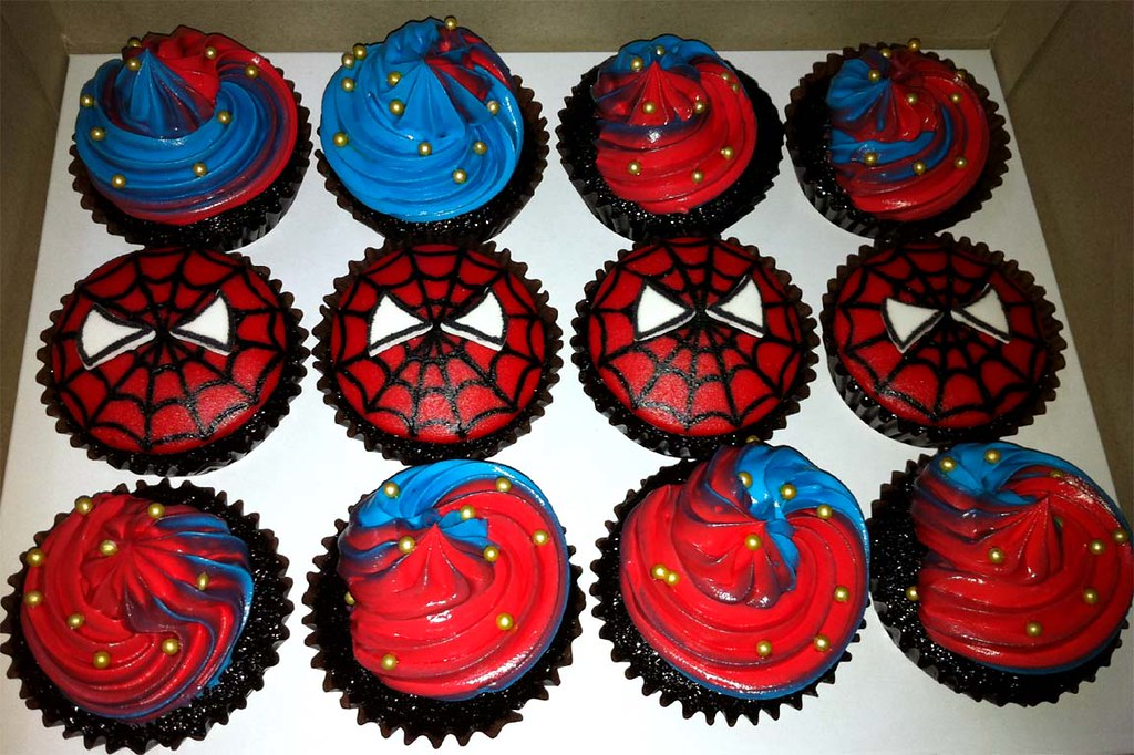 Spiderman Themed Cupcakes A Photo On Flickriver