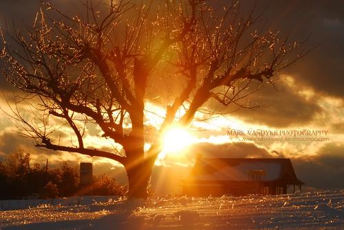 winter sunset snow cold ice southcarolina oconeecounty damascuschurchroad upstatesouthcarolina chattoogabellefarm
