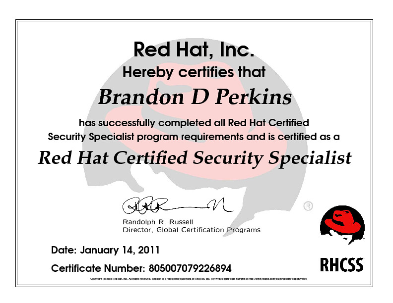 Red Hat Certified Security Specialist | Red Hat, Inc  Hereby … | Flickr