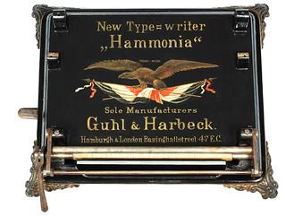 Hammonia typewriter - 1884, www.antiquetypewriters.com   by antique typewriters