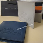 Marc by Marc Jacobs Colour Block Billfold wallet深藍/灰白色 皮銀包