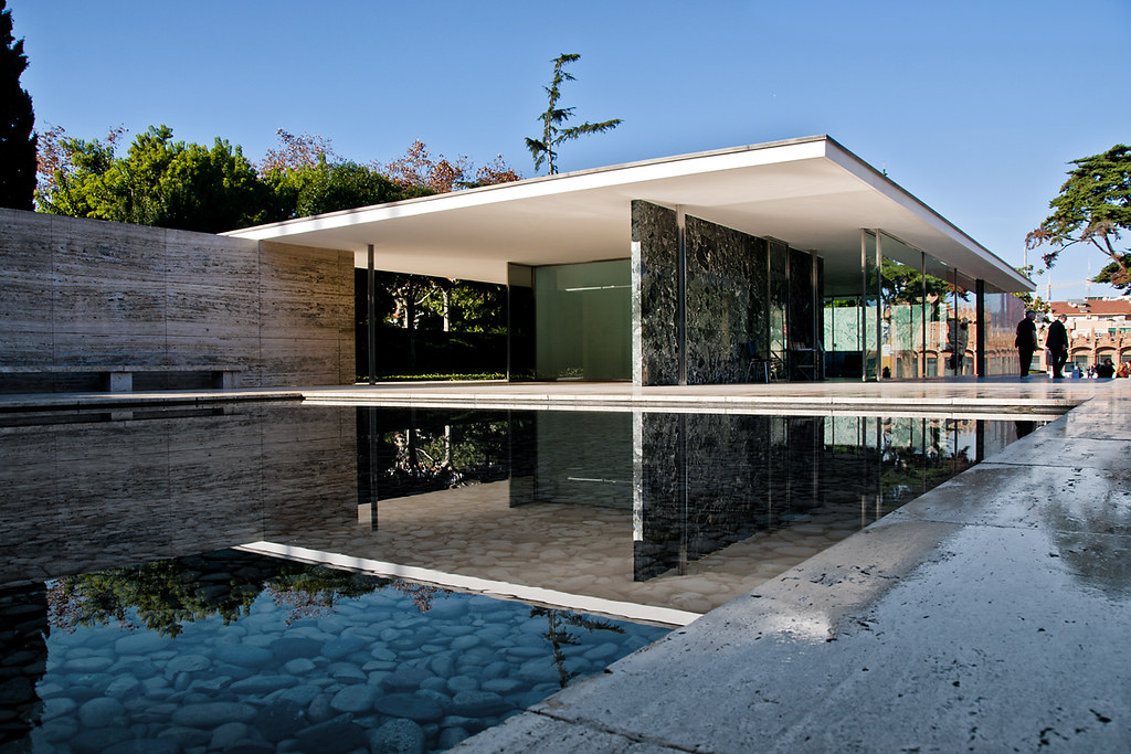 Barcelona Pavilion Mies Van Der Rohe The Barcelona Pavil Flickr