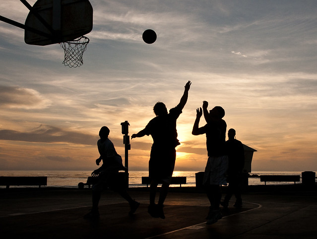 Sunset B-Ball. Explored.