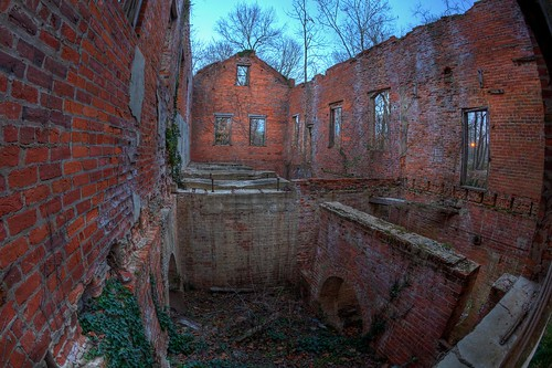 brick mill abandoned canon northcarolina historic fisheye oldmill mills hdr gristmill weldon photomatix tonemapped roanokerivermill