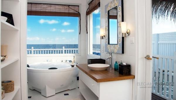Deluxe Family Water Villa Bathroom At Centara Grand Island