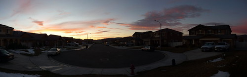 street sunset panorama cars tehachapi chrisln