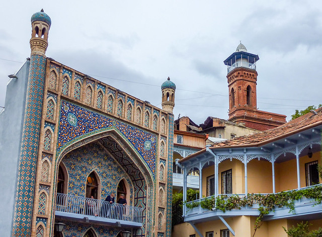 The mosque and Orbeliani bathhouse in Old Tbilisi