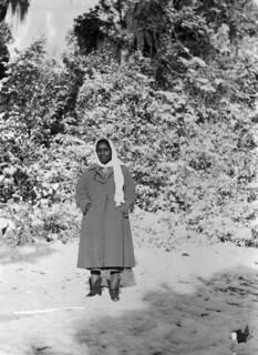 Juanita Miller in Snow Scene: Madison County, Florida
