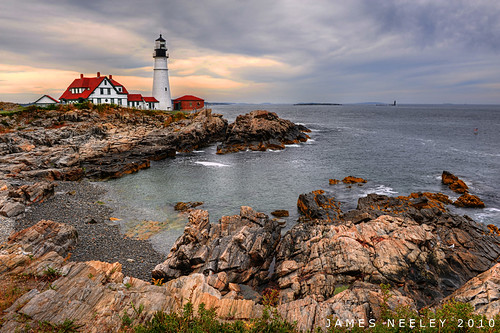 lighthouse landscape nikon maine newengland hdr portlandhead photomatix 2470mmf28 5xp mywinners jamesneeley exposurefusion
