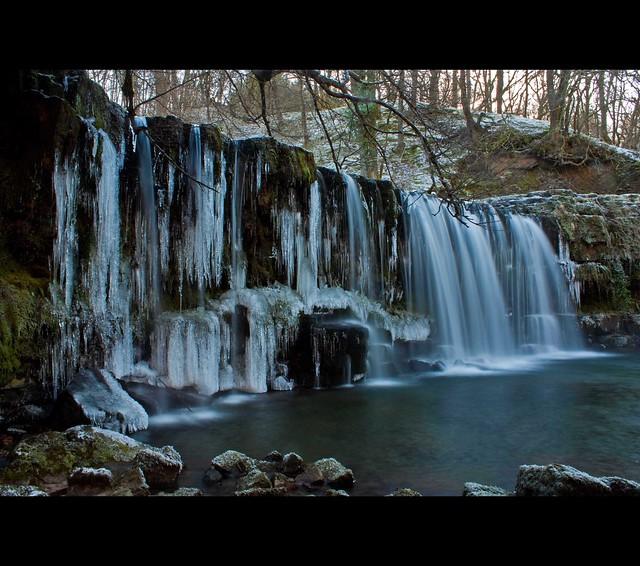 Frozen Waterfall - Sgwd Ddwli