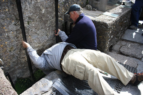 Joel kissing the Blarney Stone at Blarney Castle, County Cork | by SowersPics