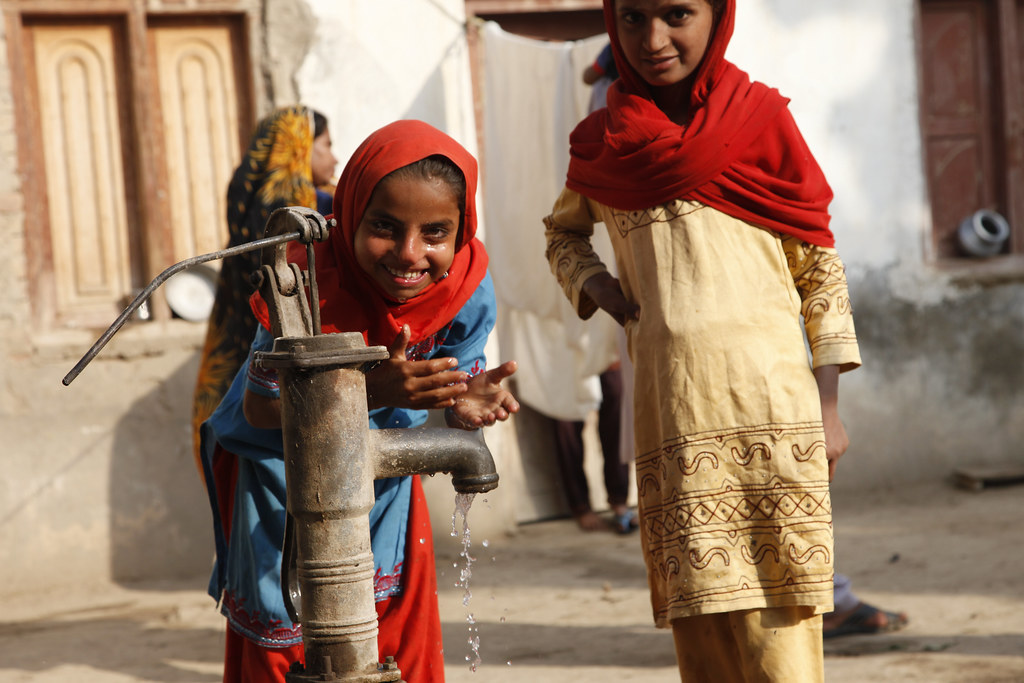 Image result for people happy clean water