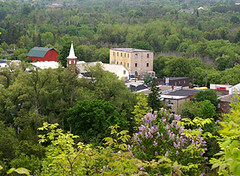 View of the town of Erin, Ontario