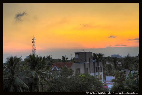 sunset hdr twilightzone settingsun ambitions twilighttime eveningshot goldenhours hdrphotography nikonphotography betterphotography chennaiview