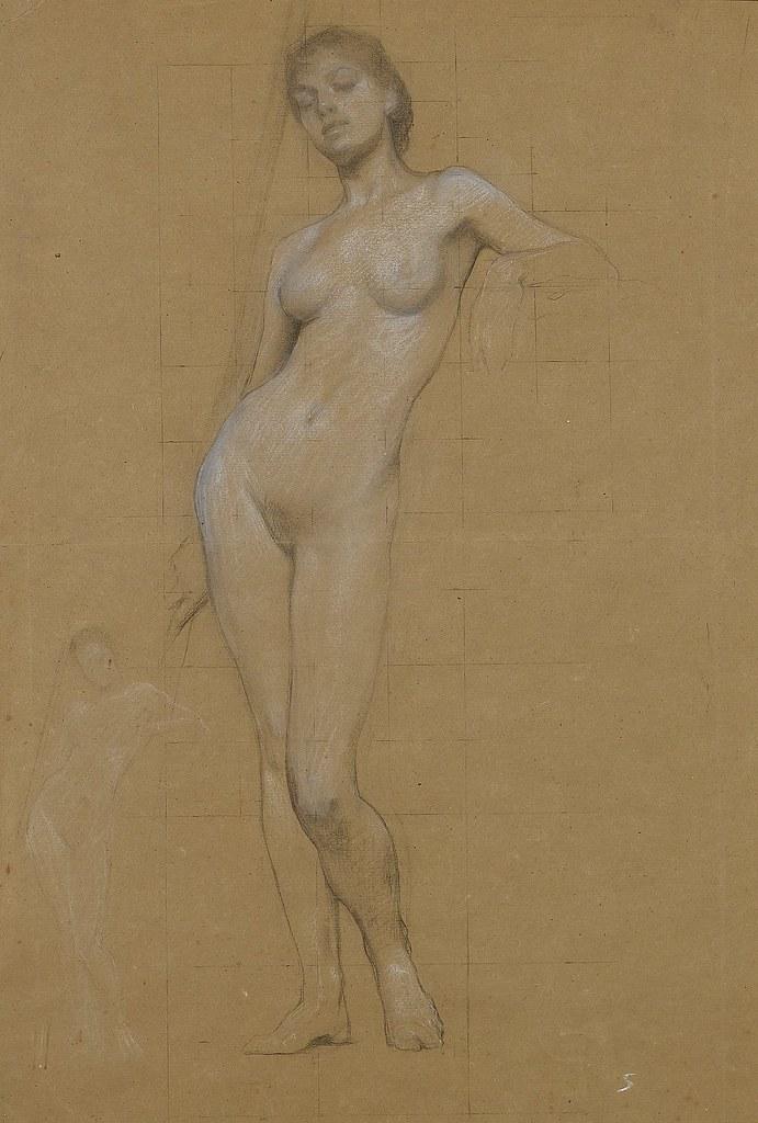 Nude female figure drawing on behance