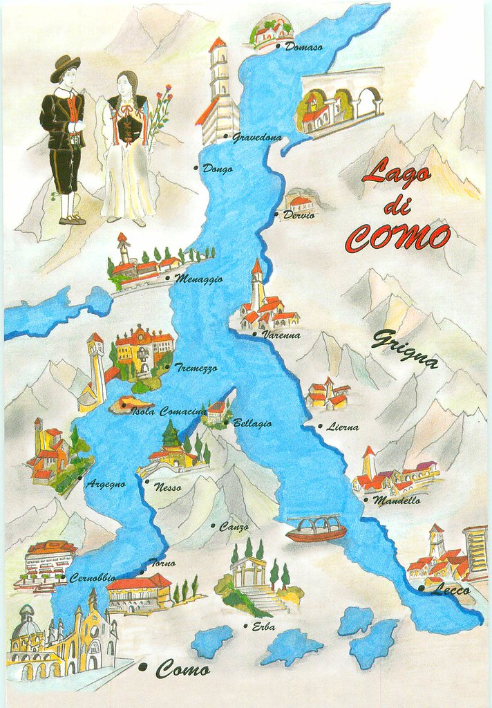 Map Of Lake Como Italy   Lake Como Map   TO TRADE | Barbara | Flickr