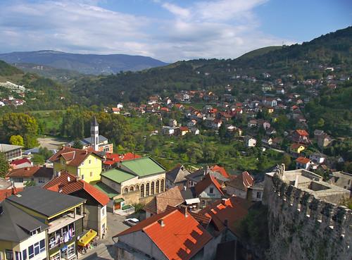 travel mountains bosnia balkans jajce panoramicview