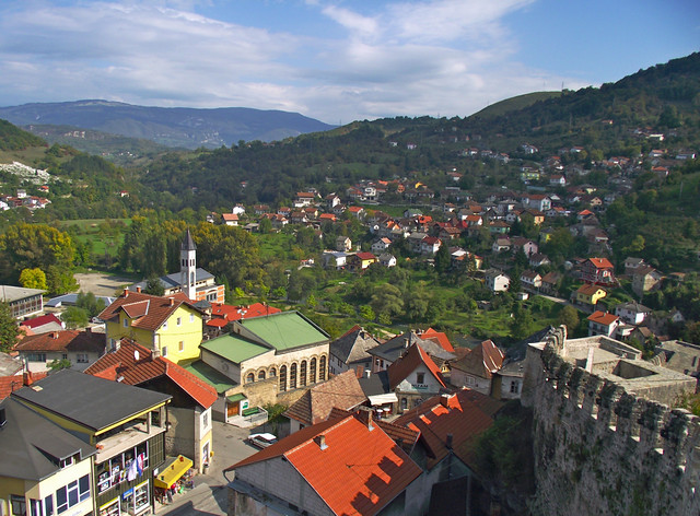 Jajce, View from the Castle